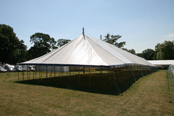 erected traditional marquee